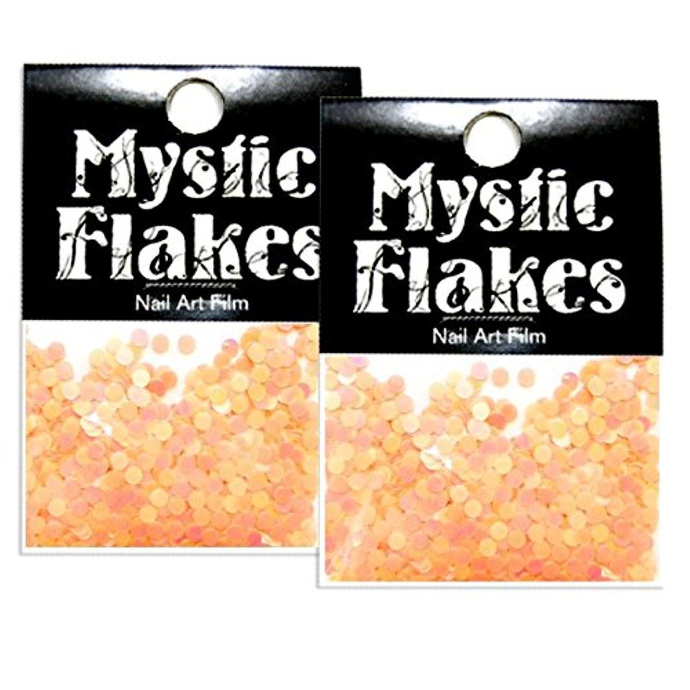 美容師センサーに同意するミスティックフレース ネイル用ストーン ルミネオレンジ サークル 2mm 0.5g 2個セット