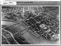 1910写真ミネソタ大学、ミネアポリス、ミネソタAerial View–Perspecitveに基づいて開発計画。