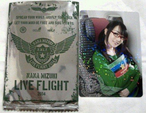水樹奈々 LIVE FLIGHT 2014 Memorial Card NANACA レア 単品 会場限定 購入特典 カード NANA MIZUKI ツアー グッズ NMLF nm7 ナナカ レアカード