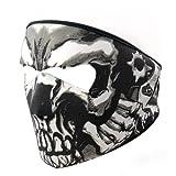オートバイスノーボードスキーブラックネオプレン2in 1Reversible Skull Assassinフルフェイスマスク