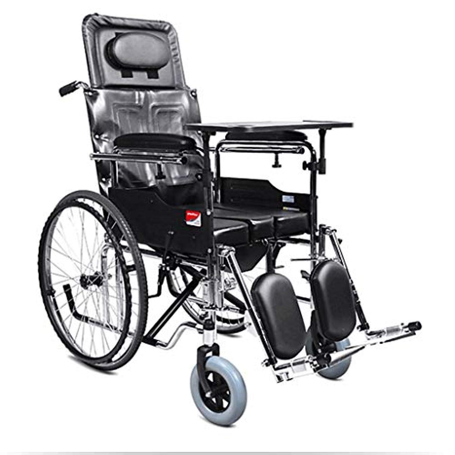 前書き軍隊乗算車椅子折りたたみ式、ポータブル高齢者屋外旅行トロリー、アルミフレーム車椅子