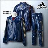adidas Professional Vネックウィンドジャケット上下セット 品番:KBS77-KBS79 (Cネイビー:A96443/A96453, O)
