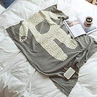 子供用毛布純粋な綿の漫画柔らかくて快適な毛布グレー/ピンク85x110cm (色 : B, サイズ さいず : 85x110cm)