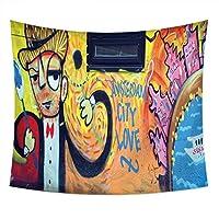 壁飾りタペストリー落書き絵画パターンはテーブルクロスやビーチタオルとして使用することができます (色 : C, サイズ さいず : 200cm*150cm)