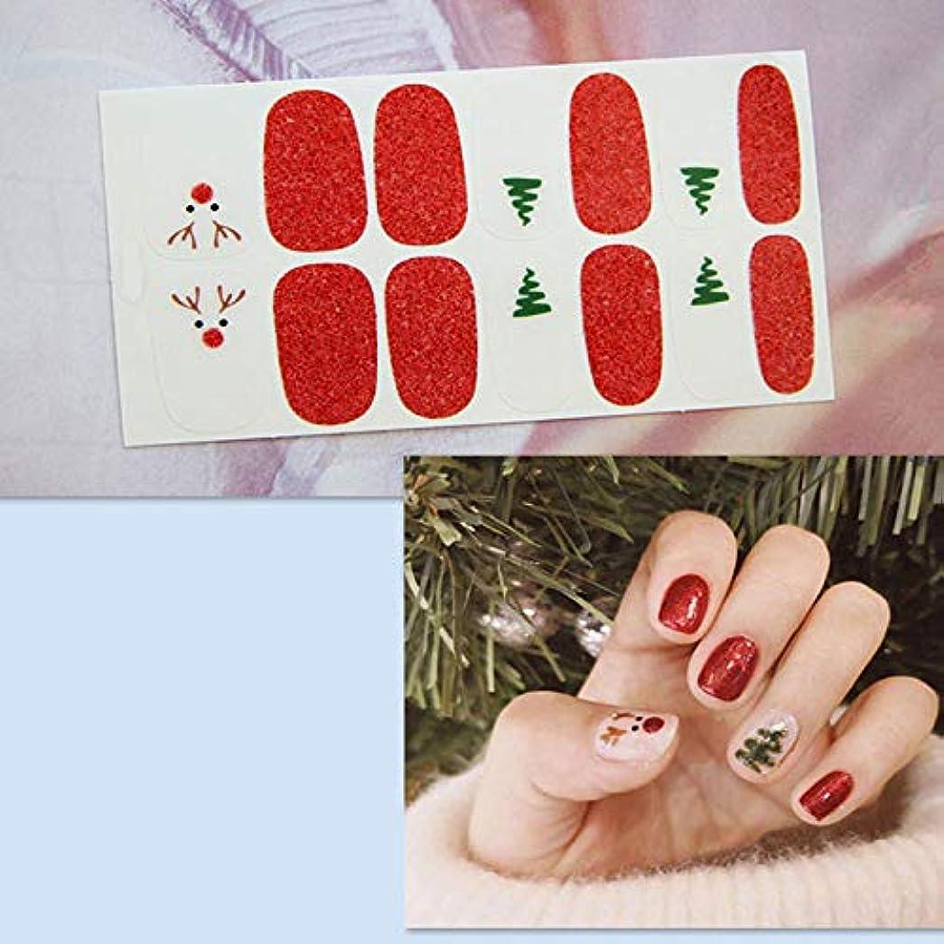 法律アンプ窒息させるネイルステッカー貼るだけマニキュア ネイルアート ネイルラップ ネイルアクセサリー女性 レディースプレゼント ギフト 可愛い 人気 おしゃれな上級ネイルシール-6枚 クリスマススタイル サンタクロース
