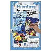 "Junior Small Paint By Number Kit 8.75""X11.75"" 3/Pkg-Sea Life (並行輸入品)"