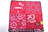 Hello Kitty 忍者桜キティ ジャガードタオルハンカチ