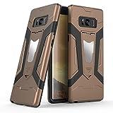 Galaxy Note 8ケース, Ranyi [ 3Piece Full Body Armor ] [組み込みキックスタンド] [衝撃吸収]ラグジュアリーメタルテクスチャ丈夫なゴム360保護3in 1ケースのSamsung Galaxy Note 8( 2017) ブラウン Ranyi-2033341