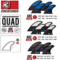 CREATURES クリエイチャー フィン QUAD ARCシリーズ ショートボード用 クアッドフィン (LARGE, FCSタイプ)