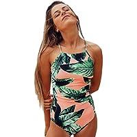 OVERMAL Sexy Womens One Piece Swimsuit Push-Up Padded Bra Printed Swimwear Jumpsuit Monokini Womens Beach Wear One-piece Bikini Bodysuit S-XL