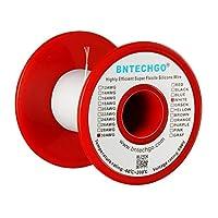 BNTECHGO 30ゲージのシリコーンワイヤー 30AWGシリコーン細線 シリコーンケーブル線 フレキシブル 超柔軟性 強い耐久性 長さ15.3メートル 断熱範囲温度: - 60 °C + 200 °C 600ボルト 11本 錫めっき銅線 シリコーンゴム電線 ホワイト(白) 自動車用 RCモデル用等