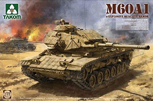 タコム 1/35 M60A1 アメリカ海兵隊 主力戦車 w/ERA 爆発反応装甲 プラモデル TKO2113