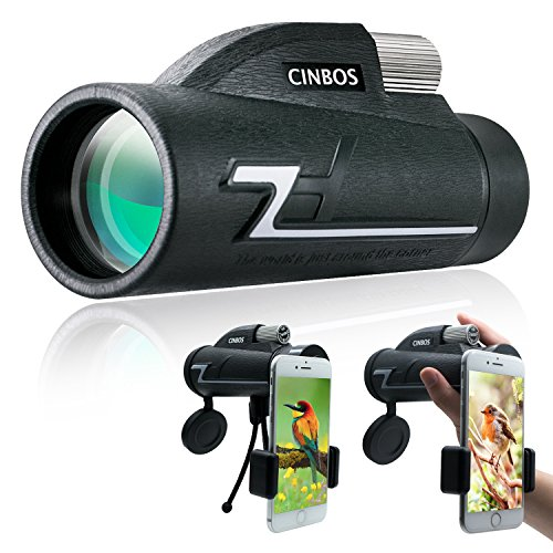 単眼鏡 CINBOS 16x50 高倍率 単眼望遠鏡、スマホホルダーと三脚付き、防水・曇り止め、 高画質 FMC多層コーティング、BAK4光学プリズム 片手でピント合わせ、鳥観察、遠足、キャンプ、旅行、モニタリング、コンサートなど、さまざまなアウトドア活動で活躍できます