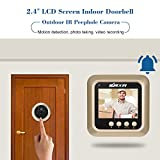 "KKmoon 2.4 ""LCDドアスコープ カメラ 160°PIR視野 ナイトビジョン・写真撮影/ビデオ録画・動き検出"