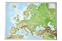 Reliefkarte Europa klein 1 : 16 000 000: Din A3 - Tiefgezogenes Kunststoffrelief