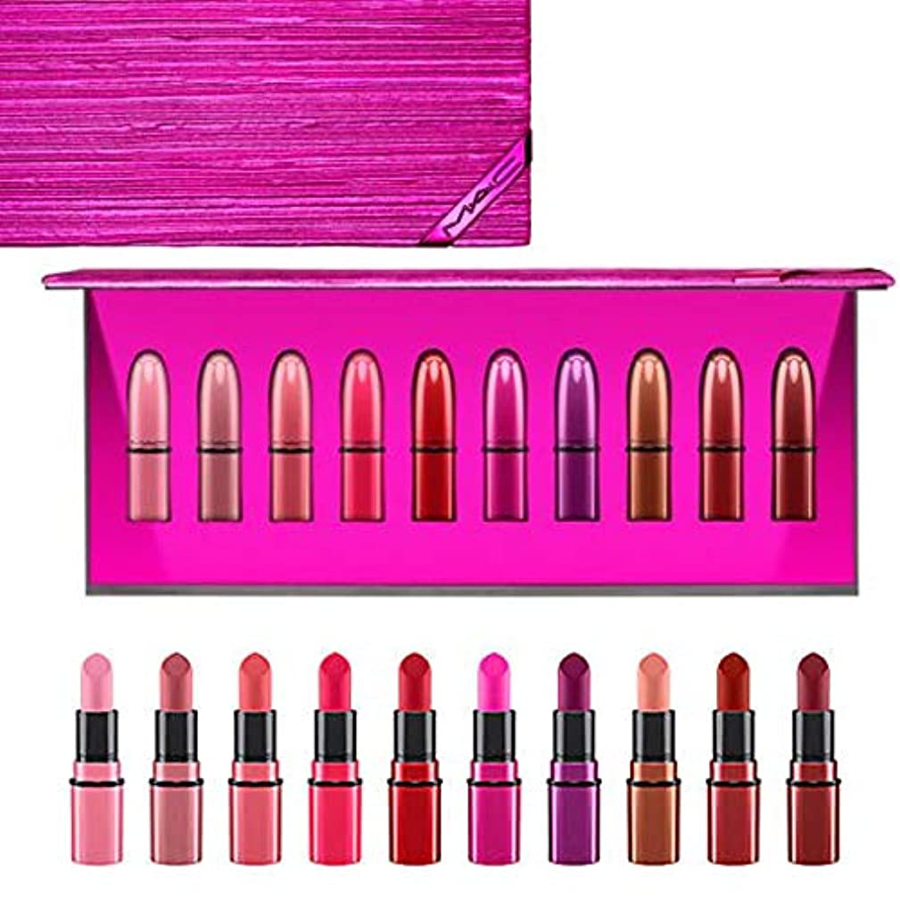 有名人花束液体MAC?マック, Shiny Pretty Things Lip Kit,Mini Lipsticks 10/set [海外直送品] [並行輸入品]