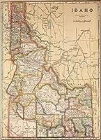 地図ポスター - アイダホ。 17 inches x 22 inches. DRM32216HM