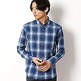 ユニオンステーション(UNIONSTATION)ボタンダウンチェックシャツ【1.ブルーオンブレーチェック/M】