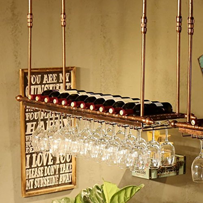 ワイングラスラック、棚用ワイングラスホルダー、ワイングラスラック、ワイングラスラック、シャンパングラスラック、ガラス器具ラック (サイズ さいず : 150cm)