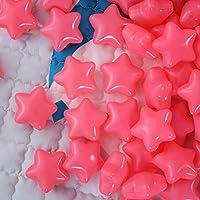 海洋ボールのおもちゃ 星形 ピンク 150個入り 直径6cm やわらかポリエチレン製 収納ネットセット(写真の背景/装飾/プール/ボールハウス用) (ピンク)