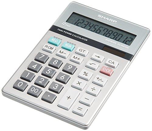 シャープ 実務電卓 EL-N412K-X ナイスサイズ