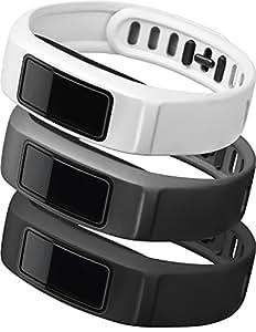 GARMIN(ガーミン) 替えバンド vivofit2用リストバンド3色セット ニュートラル(ブラック/グレー/ホワイト) Lサイズ 1233600