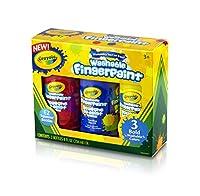 クレヨラ お絵かき 水でおとせるフィンガーペイント 3色セット (ボールド) Washable Finger Paint Bold 551310