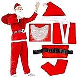 ROZZERMAN サンタクロース コスチューム 大人用 サンタ コスプレ クリスマス 衣装 定番の5点セットはこれでしょ (大人用・)