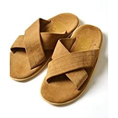 Suede Cross Strap Sandals 115-33-0095: Khaki