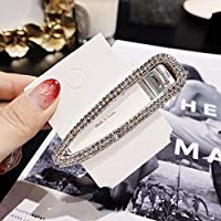 ACHICOO ヘアピン ダイヤモンド パール ファッション 前髪クリップ 髪飾り韓国スタイル 女性 シルバーダブルロー中空