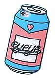 (ポルトプエルト) iPhone ケース カバー 缶ジュース シリコン ソフト ブルー ネイビー かわいい ユニーク 個性的 アイフォン (iPhone 7 Plus, ブルー)