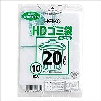 シモジマ:HDゴミ袋 半透明ゴミ袋(10枚入) 容量:20l 006603601 17647