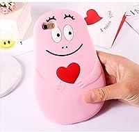 大人気 可愛い シリコンバーバパパiphoneケース Barbapapa スマホケース 携帯ケース アイフォンケース iphoneX iphone8 シリコン携帯ケース (iphone6/6s, ピンク)