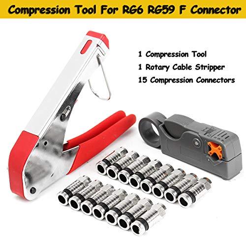 フィジェットフィジェットケーブルクリンパーストライパーコネクターフィッティング 同軸圧縮ツール RG6 RG59 F