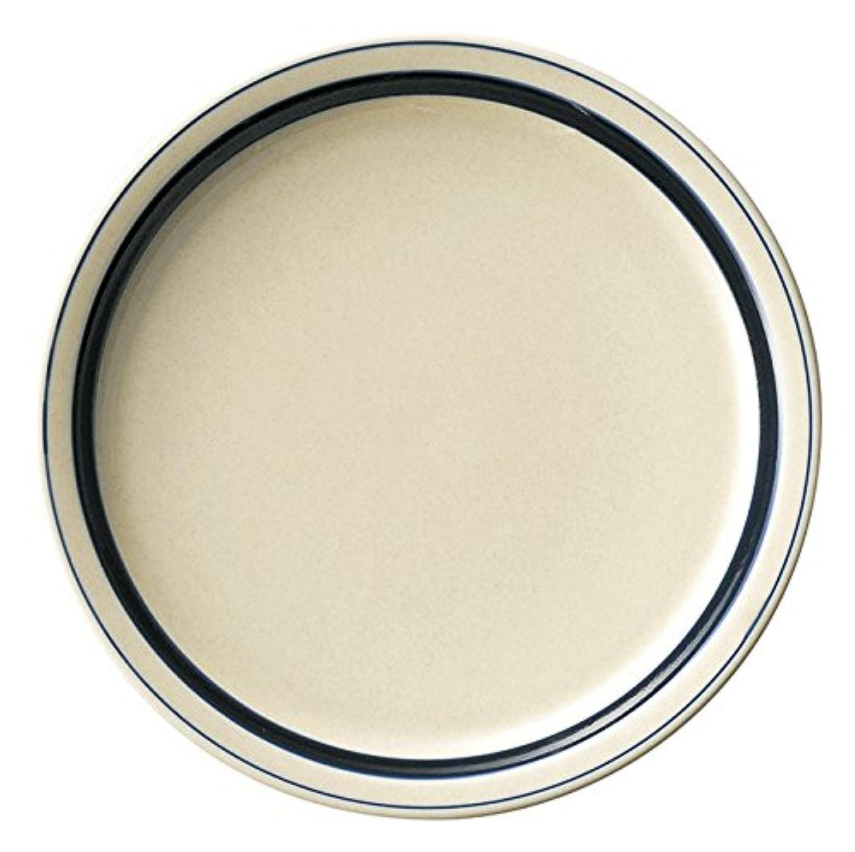 業務用食器 インディゴボーダー ディナー皿 27cm 07700402