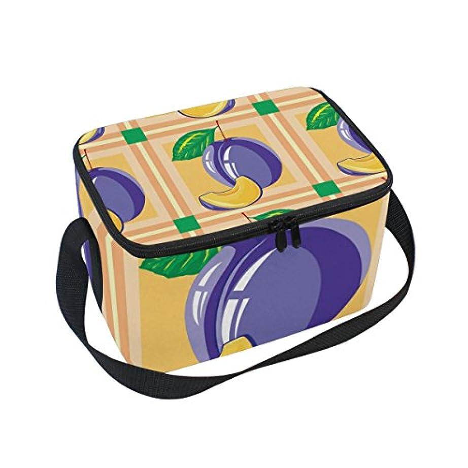 家主キリスト教嬉しいですクーラーバッグ クーラーボックス ソフトクーラ 冷蔵ボックス キャンプ用品 スモモ柄 保冷保温 大容量 肩掛け お花見 アウトドア
