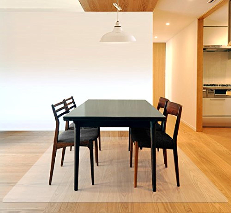 ottostyle.jp 床を保護するダイニングマット クリア 240cm×180cm 厚さ1.5mm フローリングや畳のキズ防止に 食べこぼし キッチン 透明 食卓 料理 テーブル 撥水 カット可能