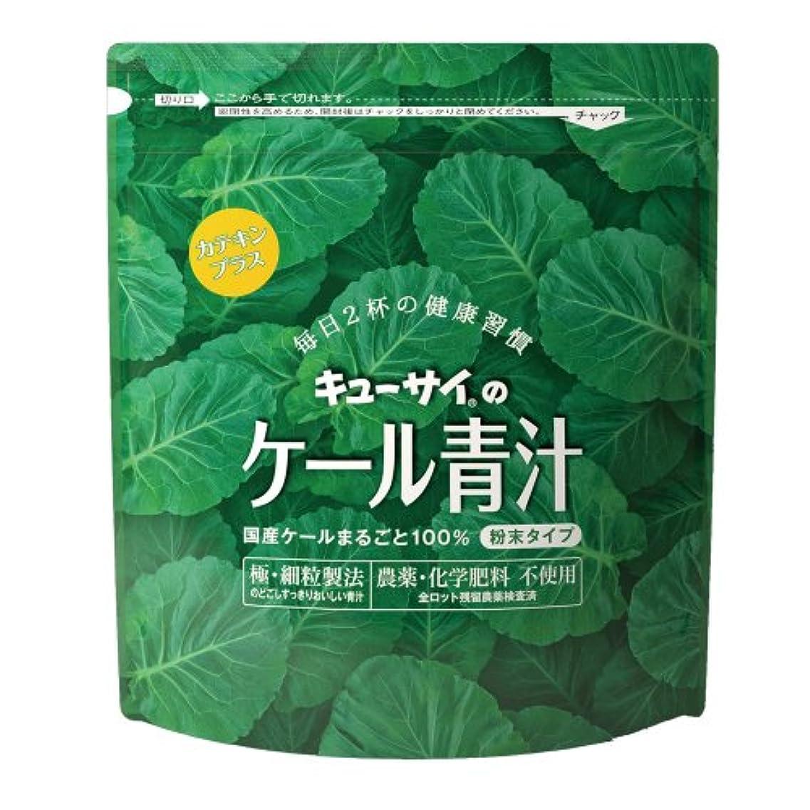 描写予定規則性キューサイ 青汁カテキンプラス420g(粉末タイプ)/国産ケール100%青汁にカテキン配合【1袋420g(約1カ月分)】