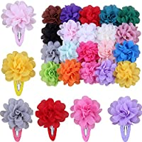 20 Colors Baby Girls Chiffon Flowers Hair Bows Clips for Teens Girls Babies Toddler