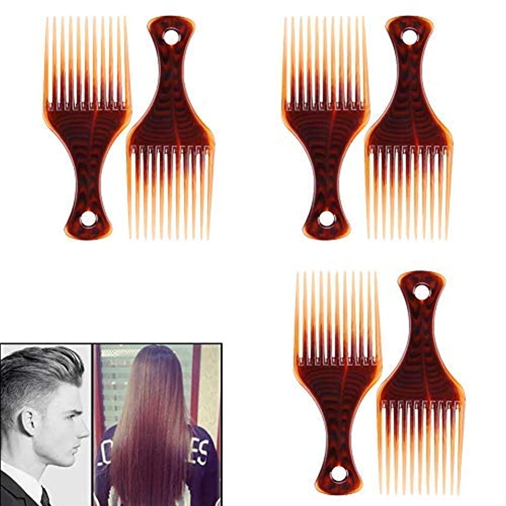 VinBee 6 PACK Hair Pick, Super Smooth Picks Comb Hairdressing Wide Tooth Modeling Big Tooth Comb [並行輸入品]