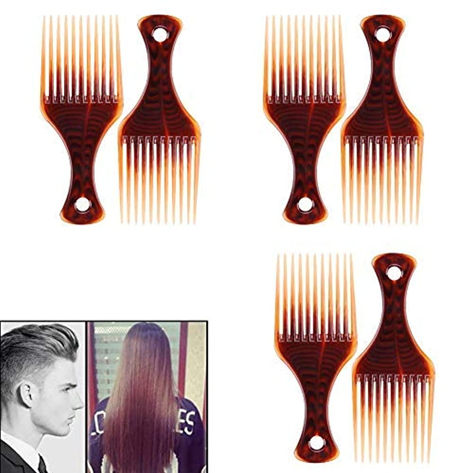 野球ひも後ろ、背後、背面(部VinBee 6 PACK Hair Pick, Super Smooth Picks Comb Hairdressing Wide Tooth Modeling Big Tooth Comb [並行輸入品]
