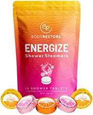 Essential Oil Shower Steamer Set - 12 Tablets, Grapefruit, Cocoa Orange, Citrus Scented Aromatherapy Shower St