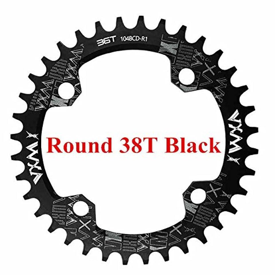 アピールジャベスウィルソン男らしさPropenary - 自転車104BCDクランクオーバルラウンド30T 32T 34T 36T 38T 40T 42T 44T 46T 48T 50T 52TチェーンホイールXT狭い広い自転車チェーンリング[ラウンド38T...
