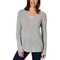 Calvin Klein Jeans Ladies' Textured Sweater (Gray, X-Large)