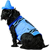 Crayola Blue Crayon Pet Costume Crayola Blue Crayon Pet Costume クレヨラブルークレヨンペットコスチューム?ハロウィン?サイズ:Small