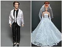 バービー人形Clothesドレス: Weddingドレスwith Veilフィット11.5インチバービー人形
