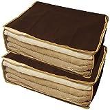 【Amazon.co.jp限定】 丈夫な 毛布・タオルケット収納ケース 2Pセット