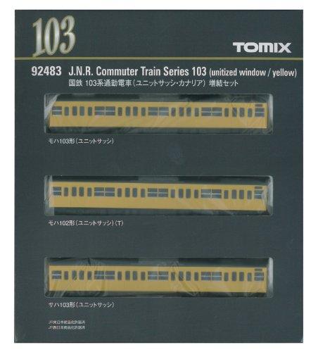 TOMIX Nゲージ 92483 103系通勤電車 (ユニットサッシ・カナリア) 増結セット