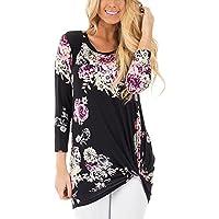 FeelinGirl Linen Tunic Blouse Plus Size for Women Black XL