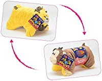 flipazoo Flip ' n ' Play Friends Plush Toy &枕で1 ( Monkey /ライオン)瞬時に変換の遊び時間forおよびNaptime Fun